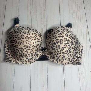 Victoria's Secret Leopard Demi Bra 34D